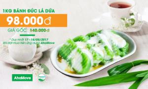 Giảm giá đến 30% món bánh đúc lá dứa khi mua trên ứng dụng AhaMove!