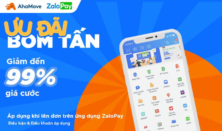 Hướng dẫn đặt đơn AhaMove trên ứng dụng ví ZaloPay