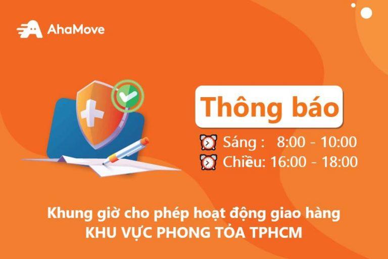 [TPHCM] KHUNG GIỜ CHO PHÉP HOẠT ĐỘNG GIAO HÀNG TẠI KHU VỰC PHONG TOẢ